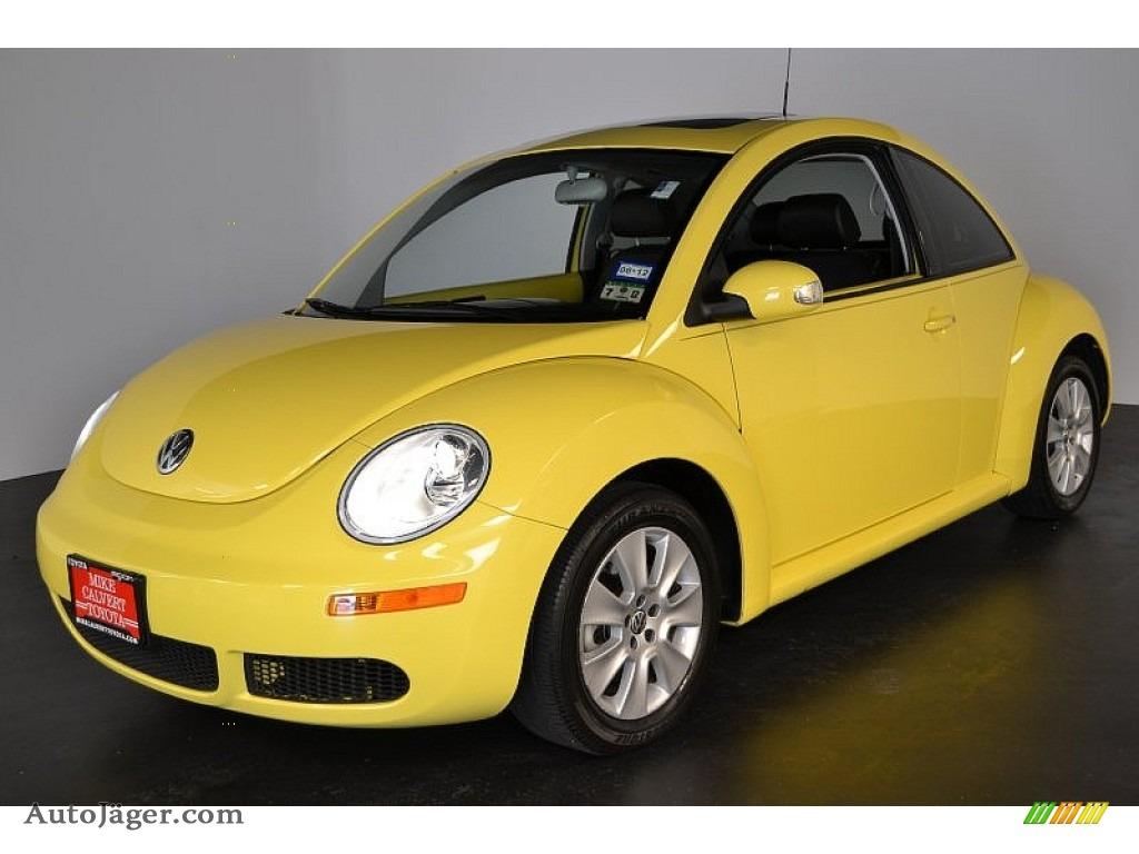 2008 volkswagen new beetle se coupe in sunflower yellow 523206 auto j ger german cars for. Black Bedroom Furniture Sets. Home Design Ideas