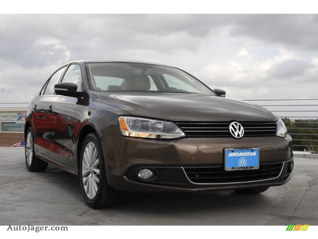 2011 Volkswagen Jetta Sel Sedan In Toffee Brown Metallic