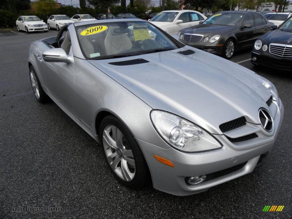 2009 mercedes benz slk 350 roadster in iridium silver for Mercedes benz slk roadster for sale