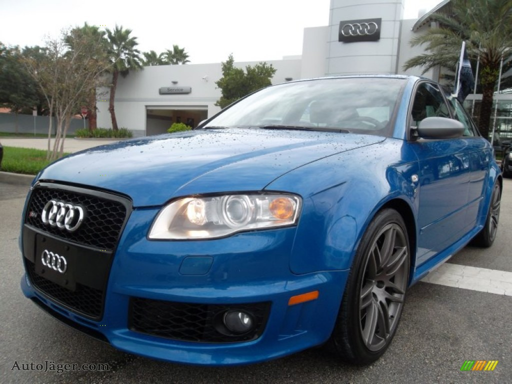 2008 audi rs4 4 2 quattro sedan in sprint blue pearl effect photo 2 900127 auto j ger. Black Bedroom Furniture Sets. Home Design Ideas