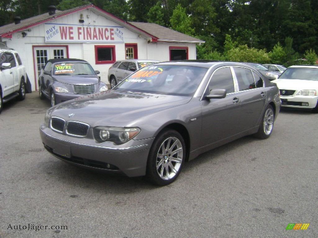 Sterling Grey Metallic Black BMW 7 Series 745Li Sedan