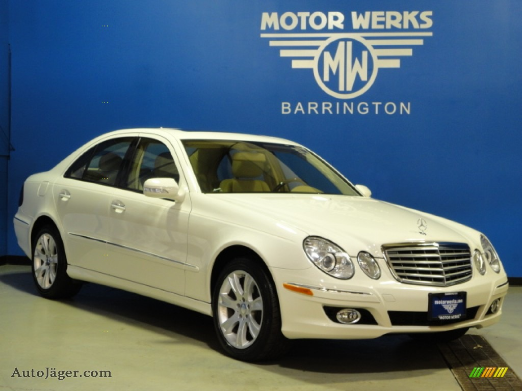 2009 mercedes benz e 350 4matic sedan in arctic white for Motor werks barrington used cars
