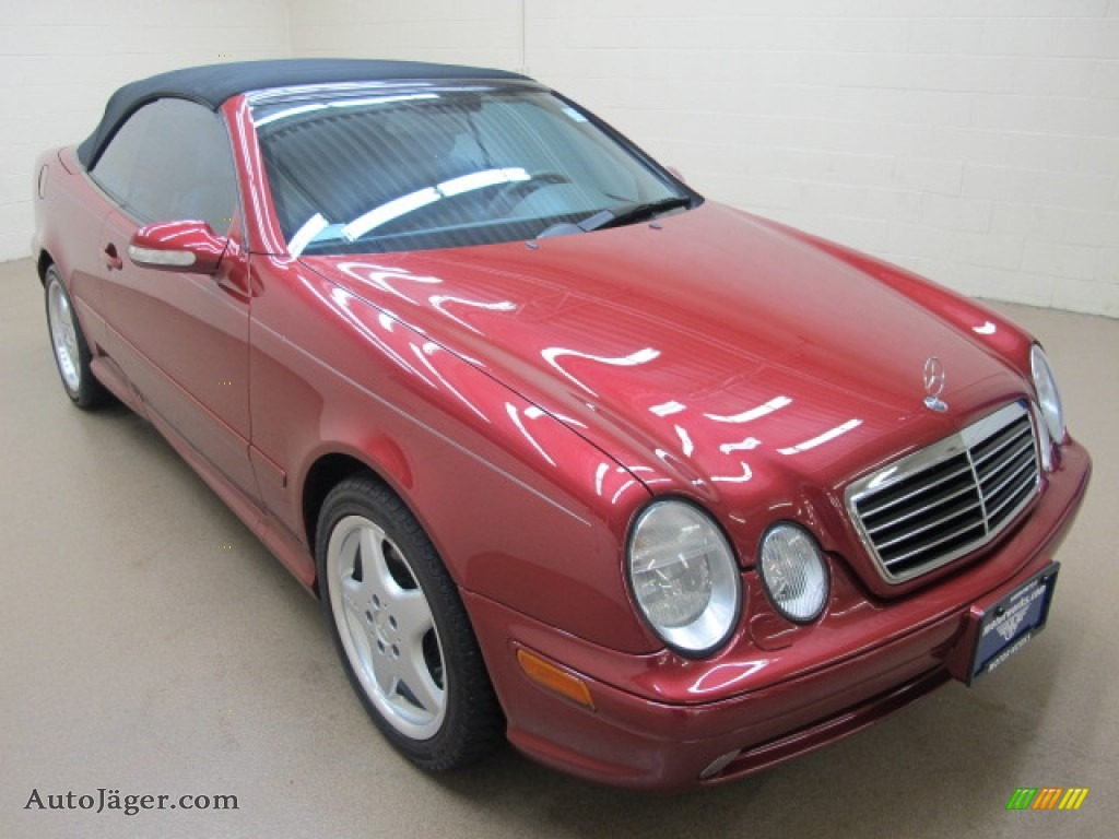2001 Mercedes Benz Clk 430 Cabriolet In Firemist Red
