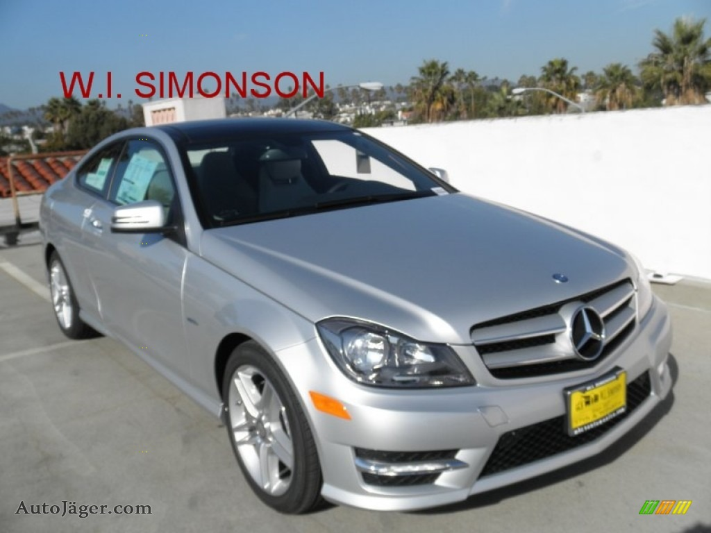 2012 mercedes benz c 350 coupe in iridium silver metallic for Simonson mercedes benz