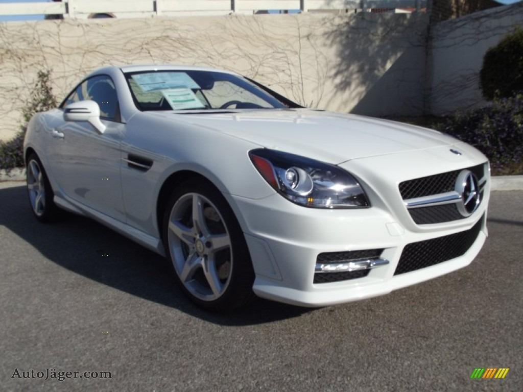 2012 mercedes benz slk 350 roadster in arctic white for Mercedes benz polar white paint