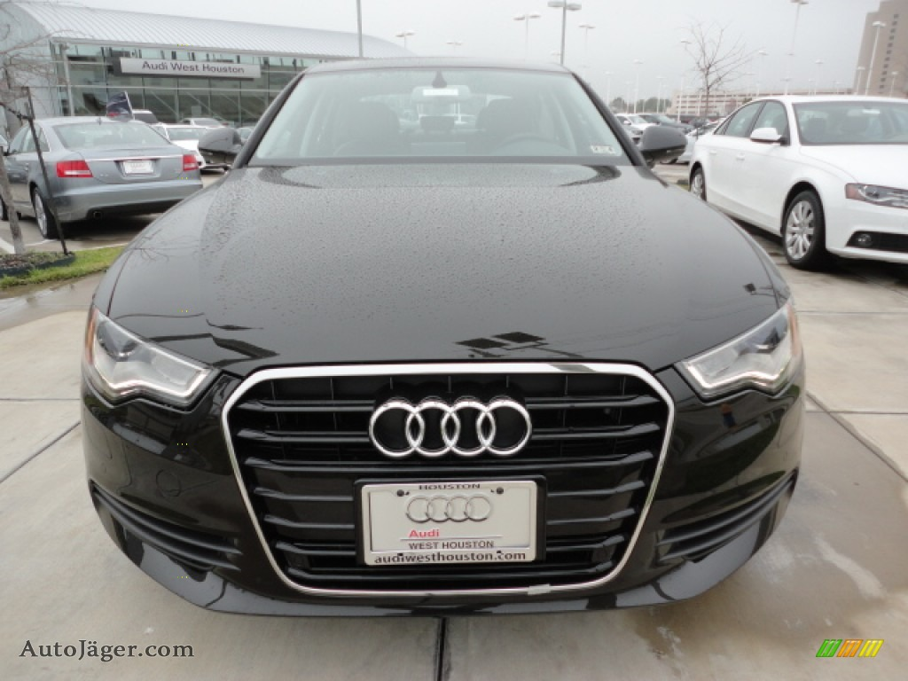 2012 Audi A6 2 0t Sedan In Havana Black Metallic Photo 2