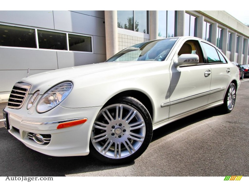 2008 mercedes benz e 350 4matic sedan in arctic white for Mercedes benz northern blvd