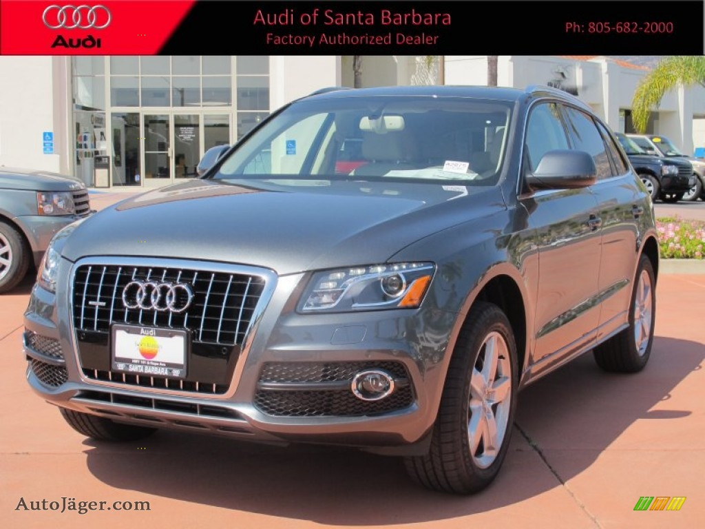Monsoon Gray Metallic / Cardamom Beige Audi Q5 3.2 FSI quattro
