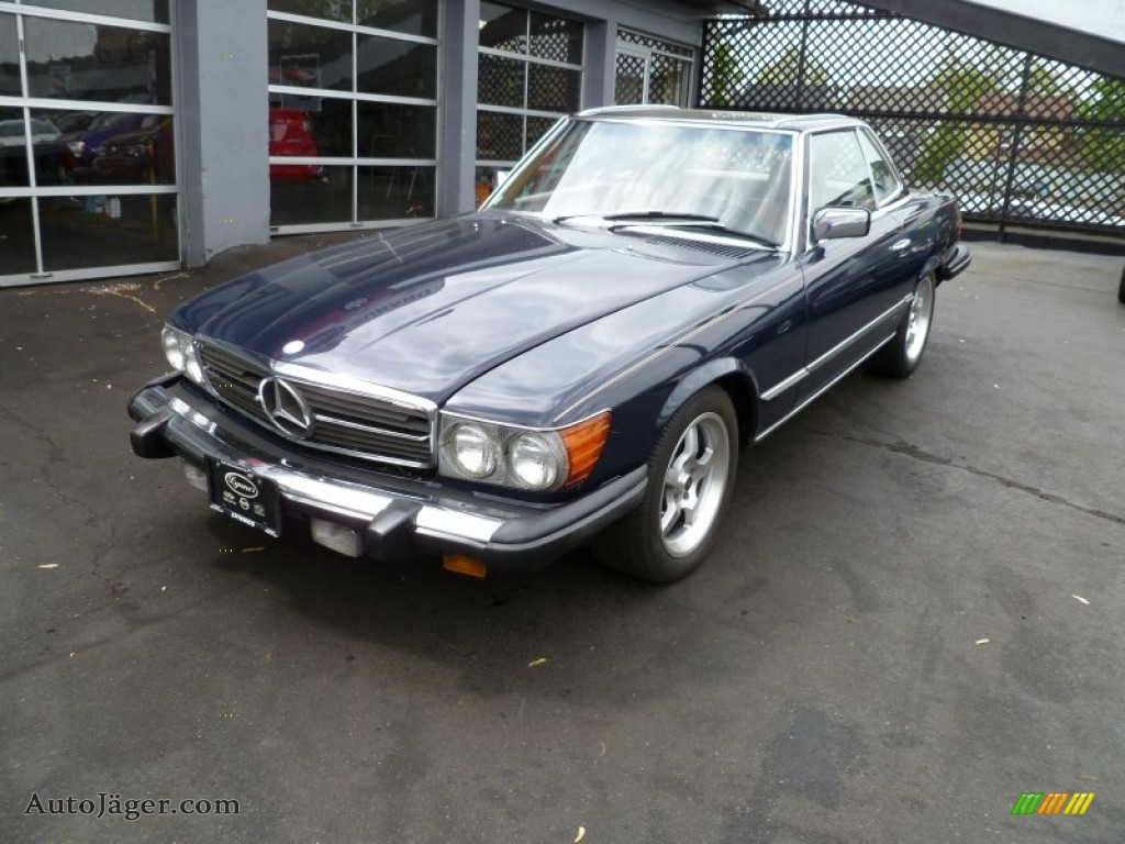 1985 mercedes benz sl class 380 sl roadster in dark blue for Mercedes benz bloomfield ave nj