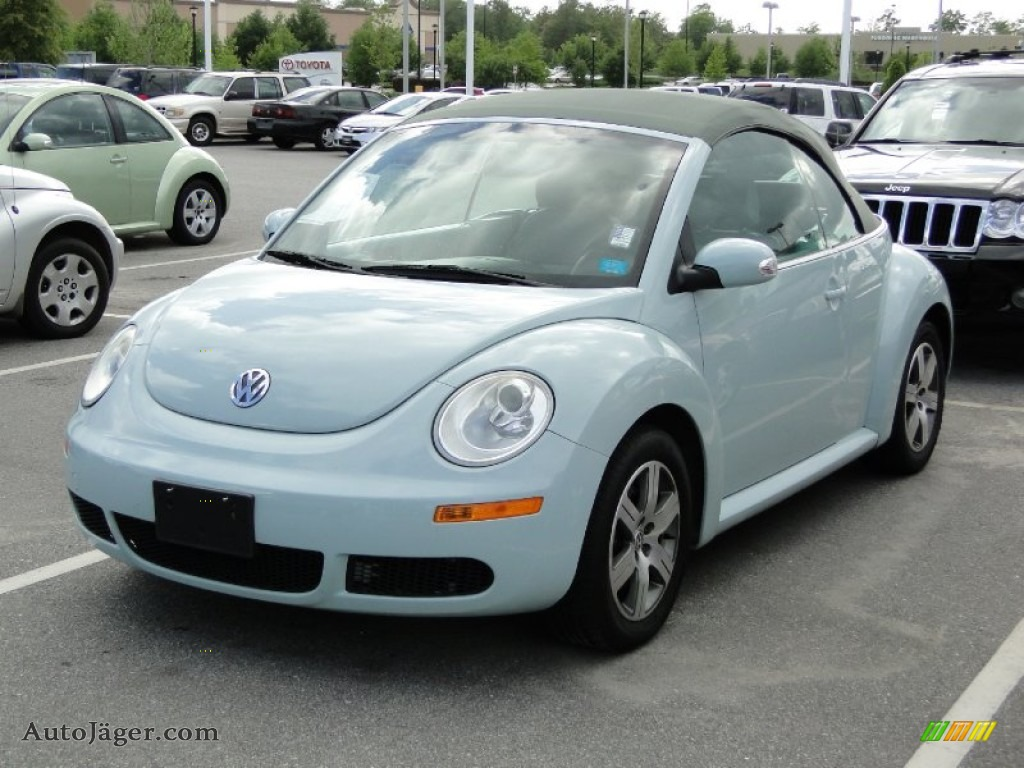 2006 volkswagen new beetle 2 5 convertible in aquarius blue 303576 auto j ger german cars. Black Bedroom Furniture Sets. Home Design Ideas