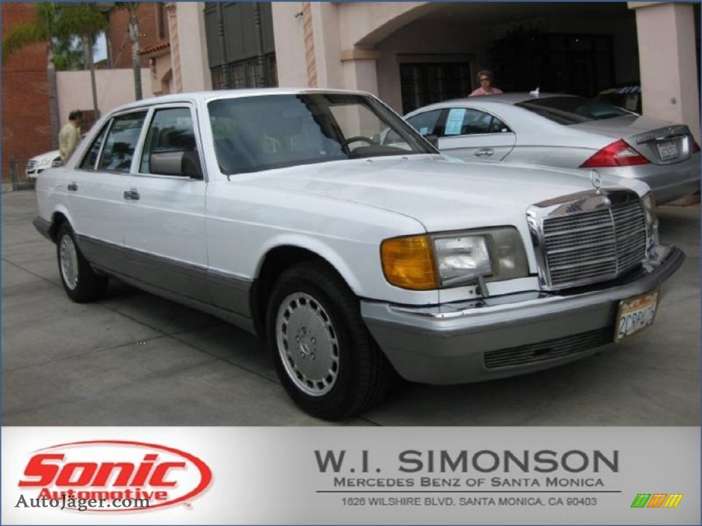 1986 mercedes benz s class 420 sel in arctic white for Simonson mercedes benz