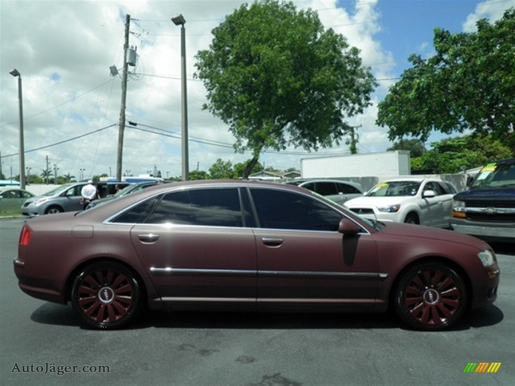 2007 audi a8 l 4 2 quattro in custom matte burgundy photo. Black Bedroom Furniture Sets. Home Design Ideas