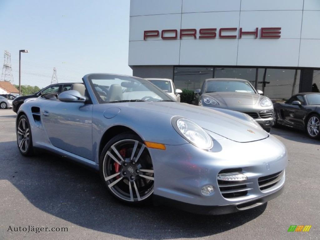 2011 Porsche 911 Turbo Cabriolet In Ice Blue Metallic