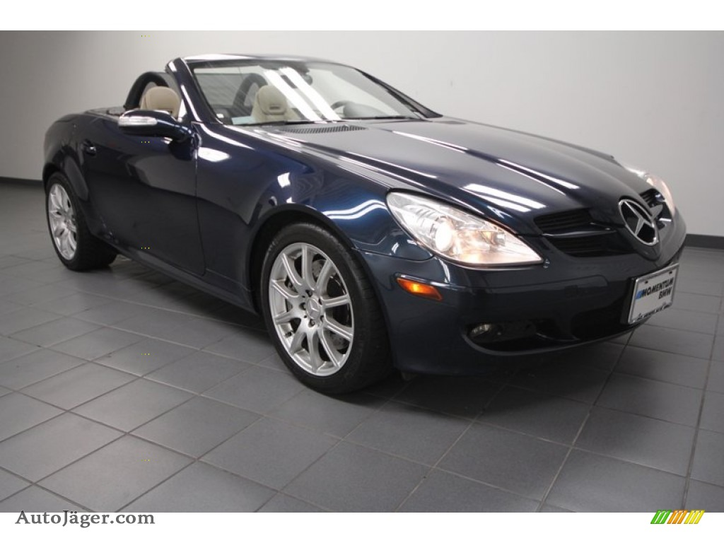 2006 mercedes benz slk 350 roadster in caspian blue. Black Bedroom Furniture Sets. Home Design Ideas