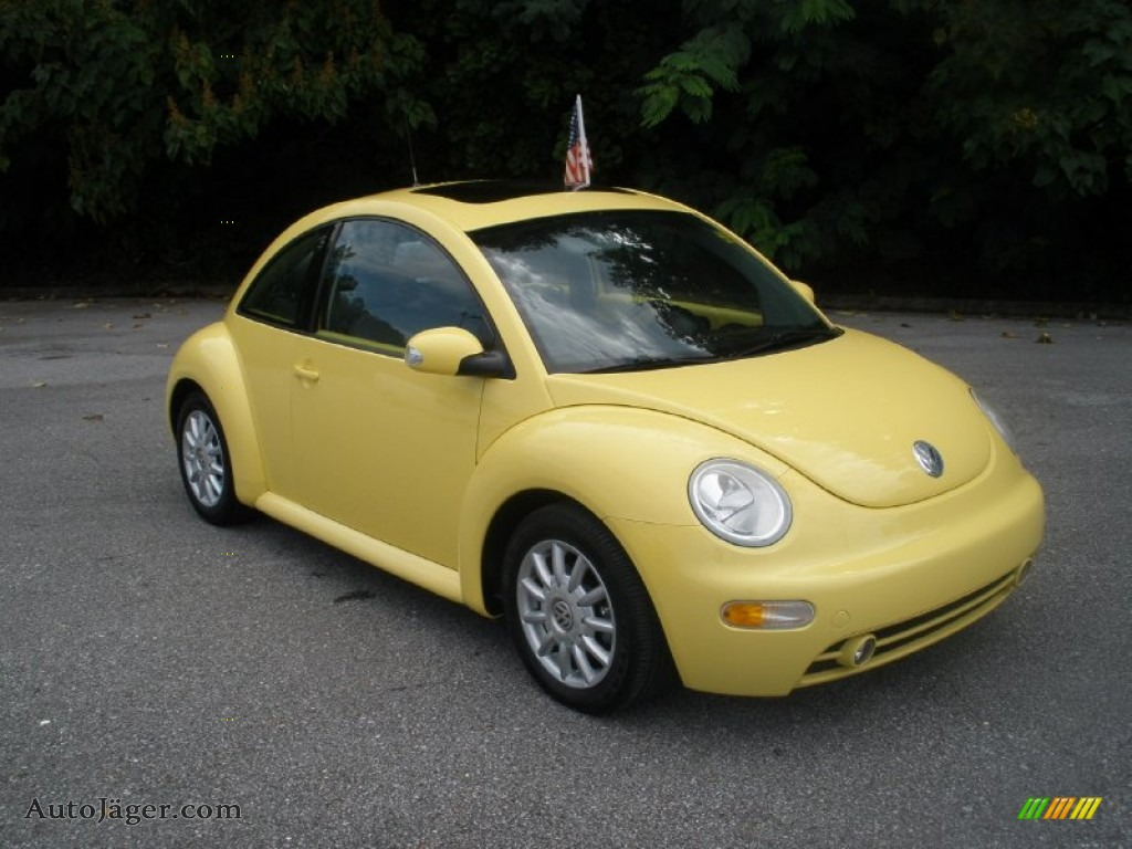 2005 volkswagen new beetle gls coupe in sunflower yellow 405908 auto j ger german cars for. Black Bedroom Furniture Sets. Home Design Ideas