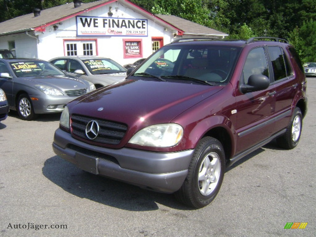1999 mercedes benz ml 320 4matic in ruby red metallic for Mercedes benz 1999 ml320