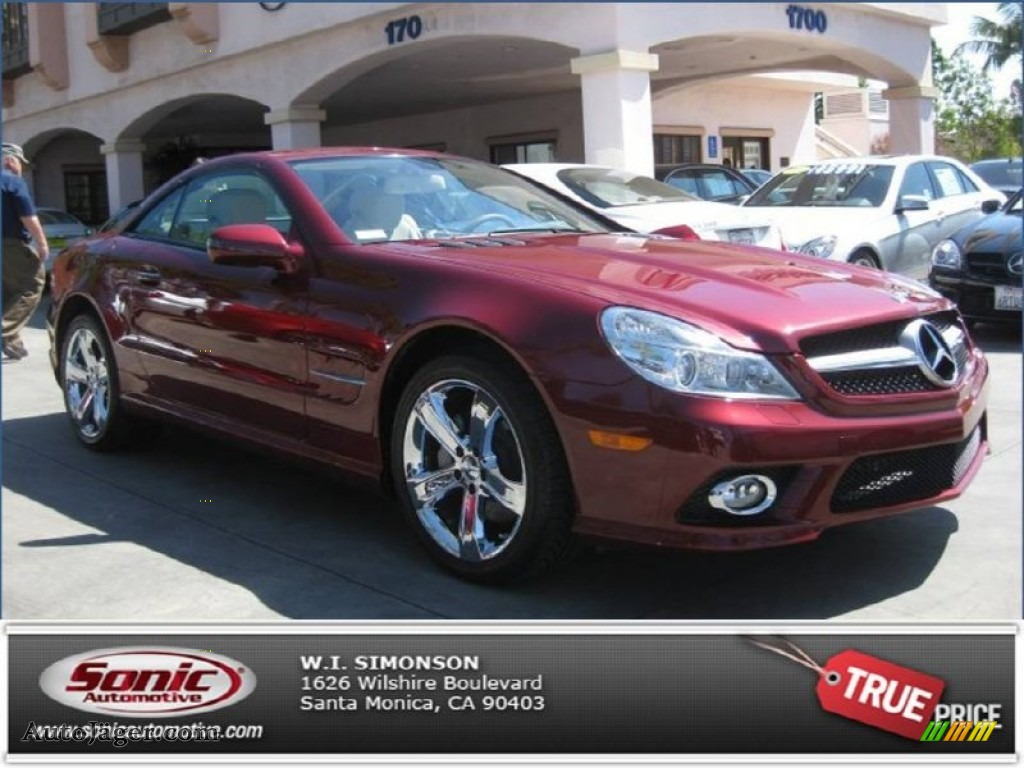 2009 mercedes benz sl 550 roadster in storm red metallic for Simonson mercedes benz