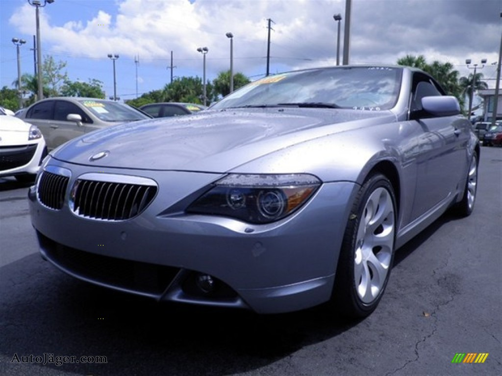 2005 bmw 6 series 645i convertible in silver grey metallic photo 11 324961 auto j ger. Black Bedroom Furniture Sets. Home Design Ideas