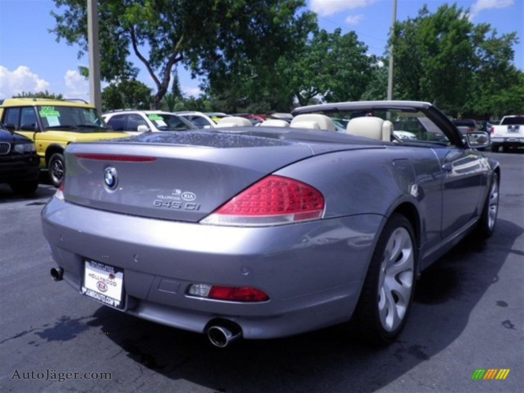 2005 bmw 6 series 645i convertible in silver grey metallic photo 33 324961 auto j ger. Black Bedroom Furniture Sets. Home Design Ideas