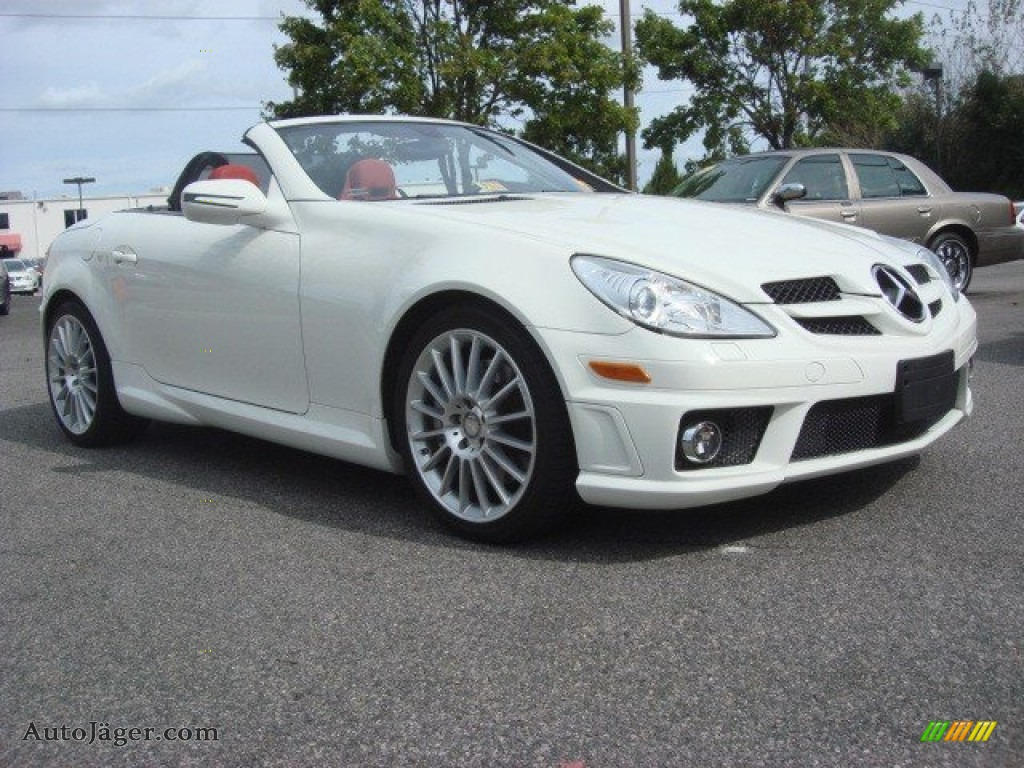 2010 mercedes benz slk 300 roadster in arctic white for 2010 mercedes benz slk300