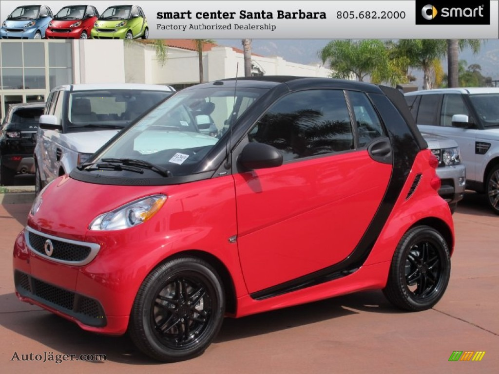 2013 smart fortwo passion cabriolet in rally red 626055 auto j ger german cars for sale in. Black Bedroom Furniture Sets. Home Design Ideas