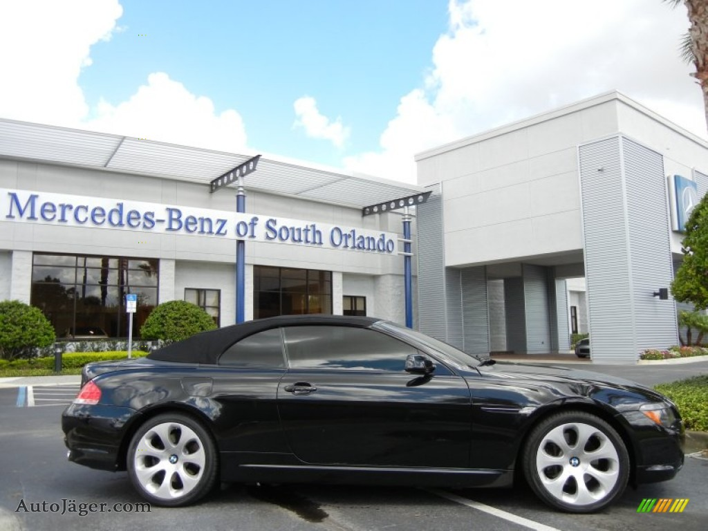 2006 bmw 6 series 650i convertible in jet black photo 5
