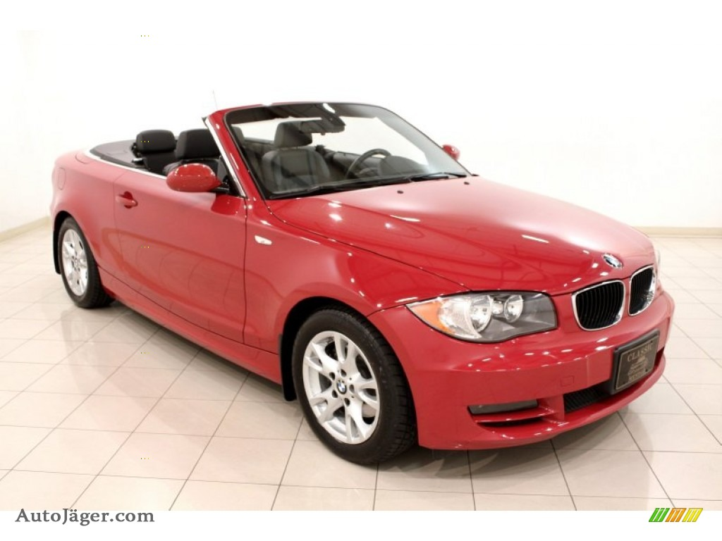 2008 Bmw 1 Series 128i Convertible In Crimson Red J74066