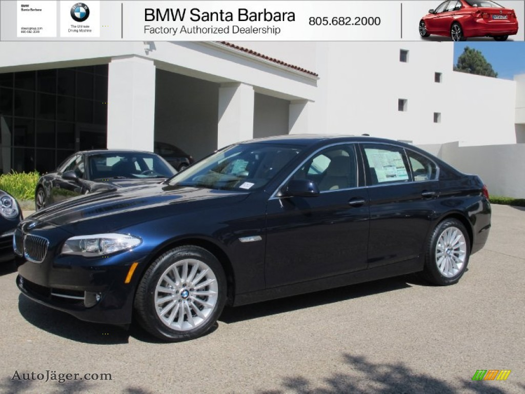 2013 5 Series 535i Sedan - Imperial Blue Metallic / Venetian Beige photo #1