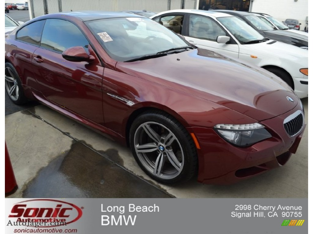 Worksheet. 2009 BMW M6 Coupe in Indianapolis Red Metallic  Y24914  Auto