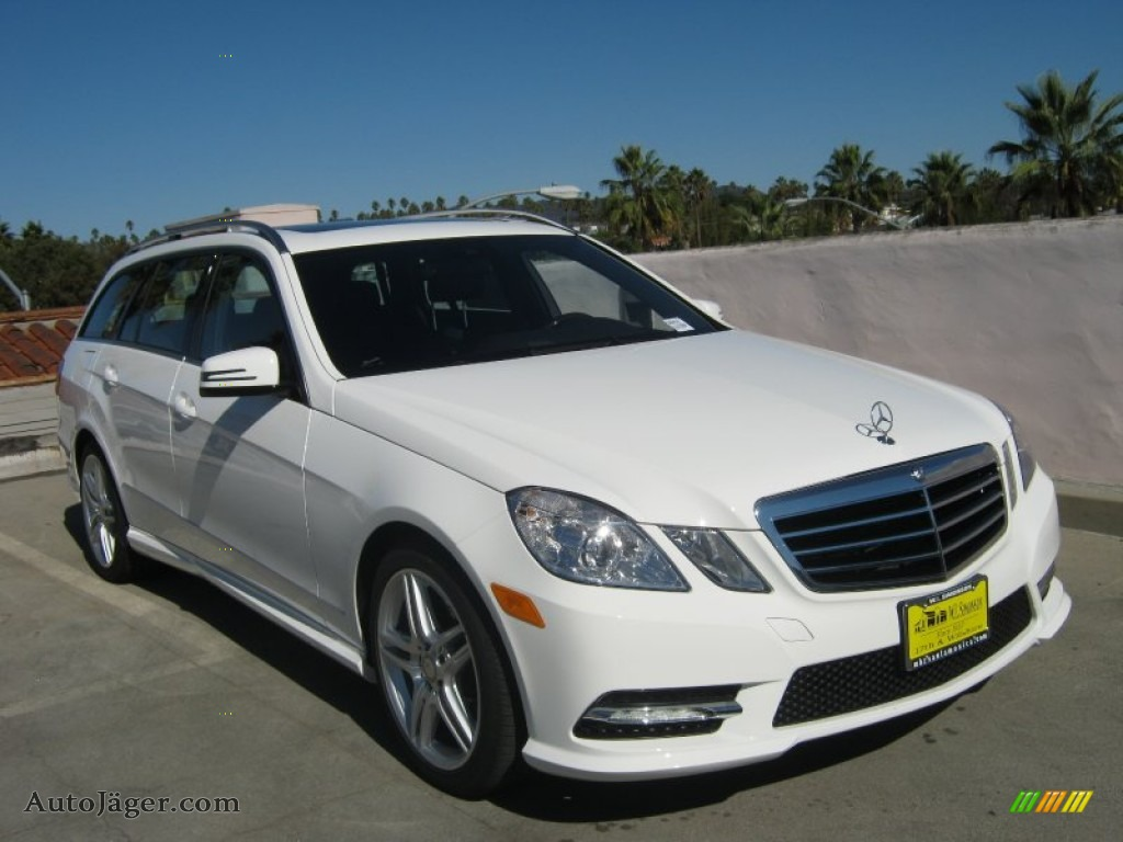 2013 mercedes benz e 350 4matic wagon in polar white photo for Simonson mercedes benz