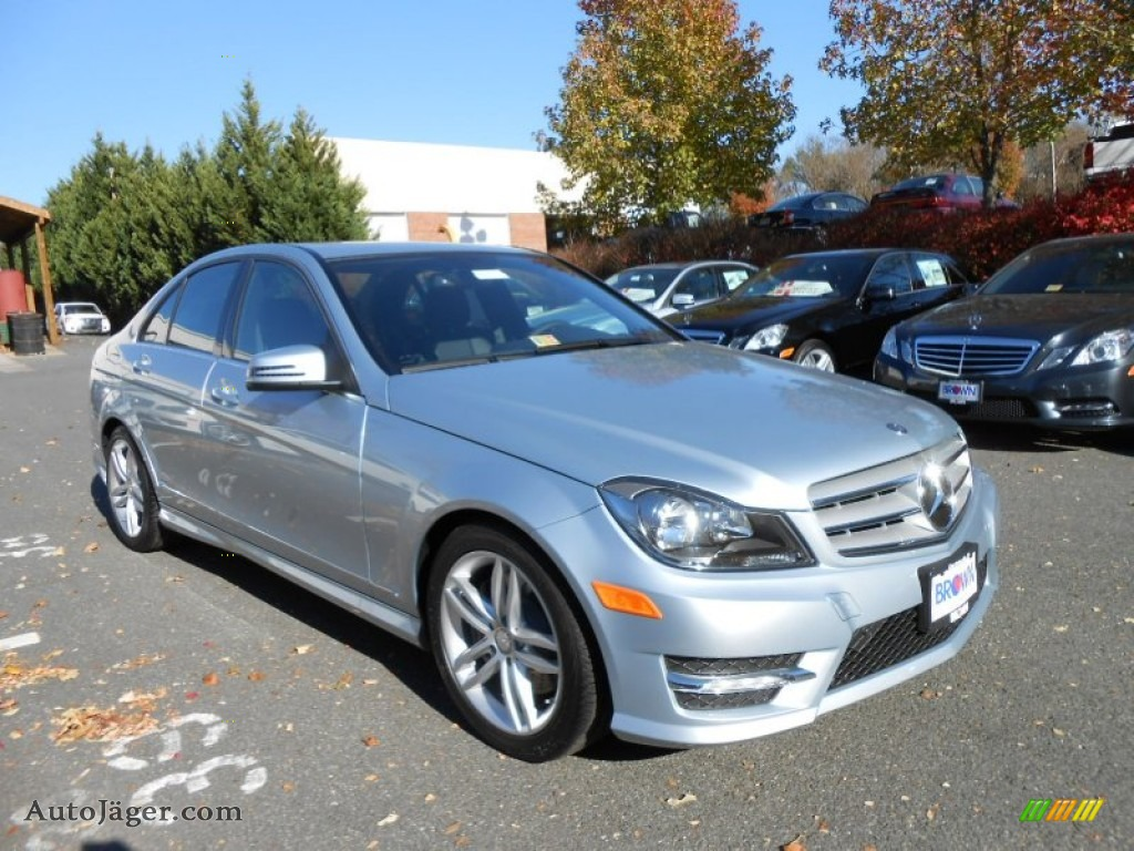 2013 mercedes benz c 300 4matic sport in diamond silver for Mercedes benz silver