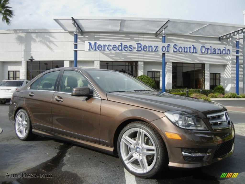 2013 Mercedes Benz C 250 Sport In Dolomite Brown Metallic