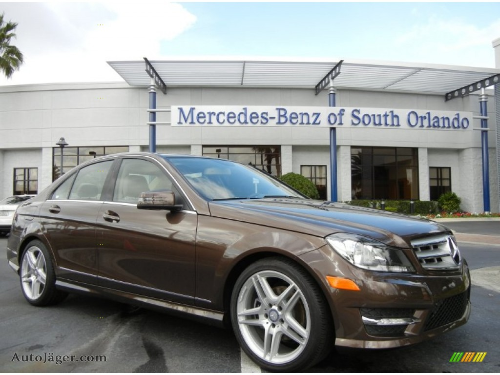 2013 mercedes benz c 250 sport in dolomite brown metallic for Mercedes benz south orlando
