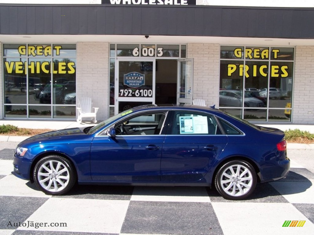 2013 a4 2 0t sedan scuba blue metallic titanium gray photo 1