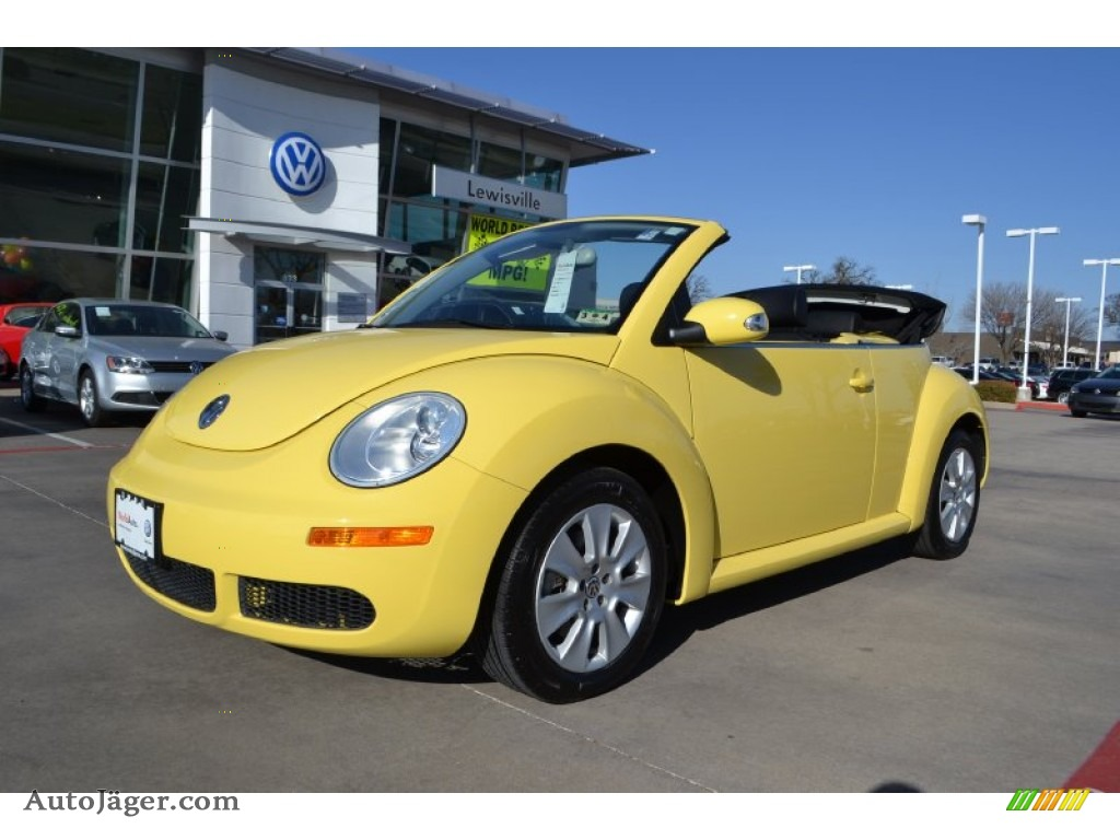 2008 volkswagen new beetle s convertible in sunflower yellow 420811 auto j ger german cars. Black Bedroom Furniture Sets. Home Design Ideas