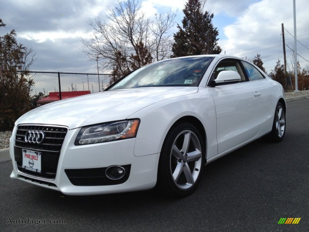 2009 audi a5 3 2 quattro coupe in ibis white photo 5 041271 auto j ger german cars for - White audi a5 coupe for sale ...