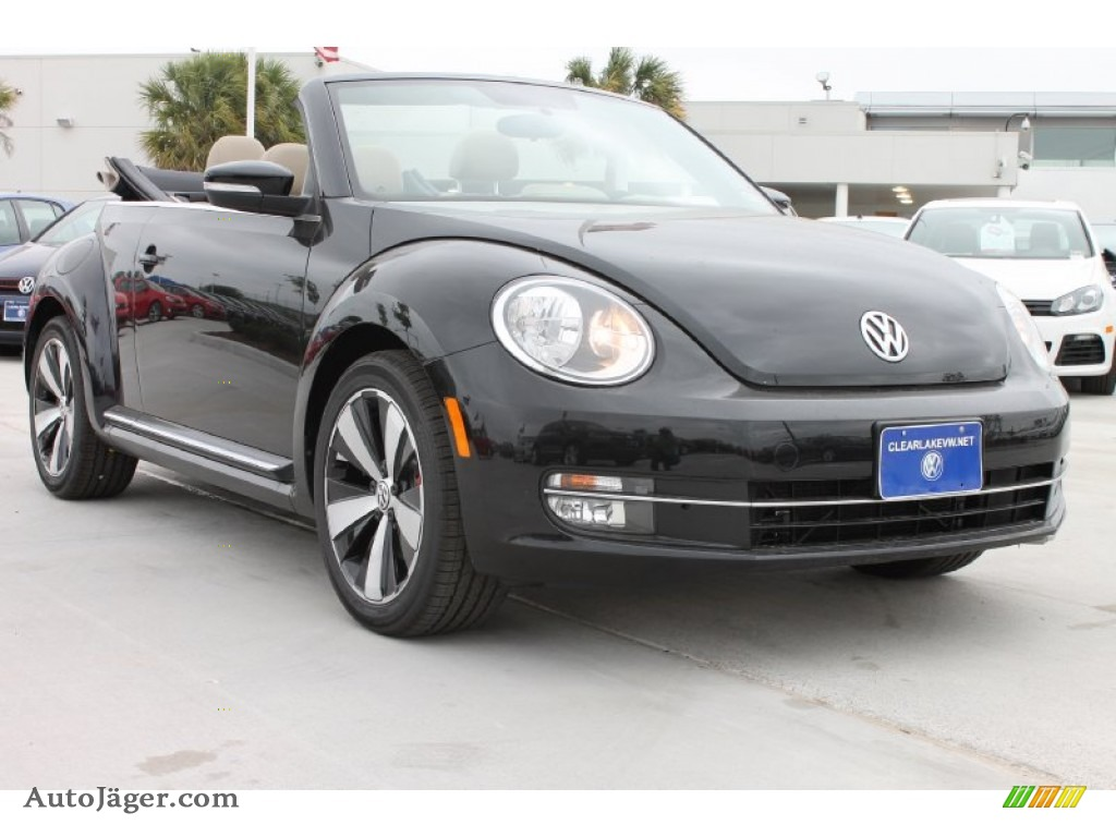 2013 Volkswagen Beetle Turbo Convertible in Deep Black Pearl Metallic photo #2 - 812944 | Auto ...