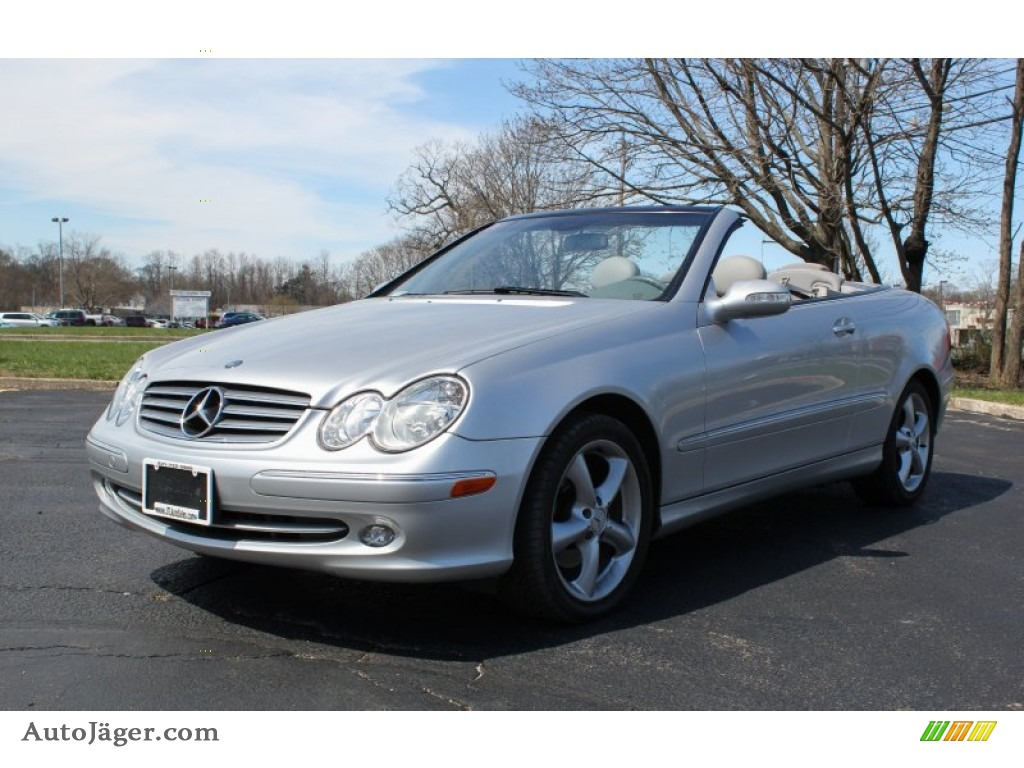 2004 mercedes benz clk 320 cabriolet in brilliant silver. Black Bedroom Furniture Sets. Home Design Ideas