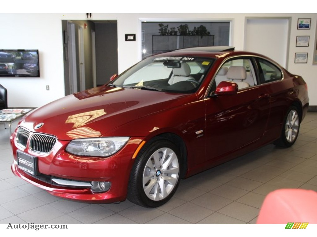 BMW Series I XDrive Coupe In Vermillion Red Metallic - 2011 bmw 328i xdrive coupe