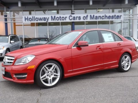 Mars red mercedes benz c 300 4matic sport for sale auto for Tri star mercedes benz st louis