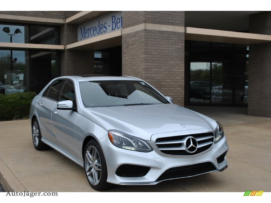 2014 mercedes benz e 350 4matic sport sedan in iridium for Mercedes benz silver