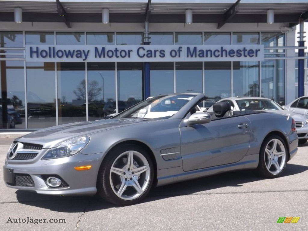 2009 mercedes benz sl 550 roadster in palladium silver for Holloway motor cars manchester