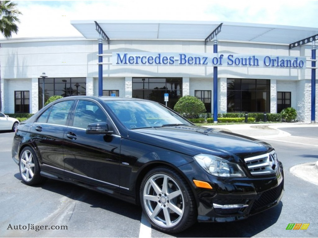 2012 mercedes benz c 250 sport in black 611134 auto j ger german cars for sale in the us. Black Bedroom Furniture Sets. Home Design Ideas