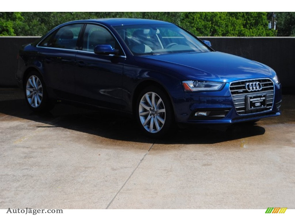 2013 a4 2 0t quattro sedan scuba blue metallic titanium gray photo 1