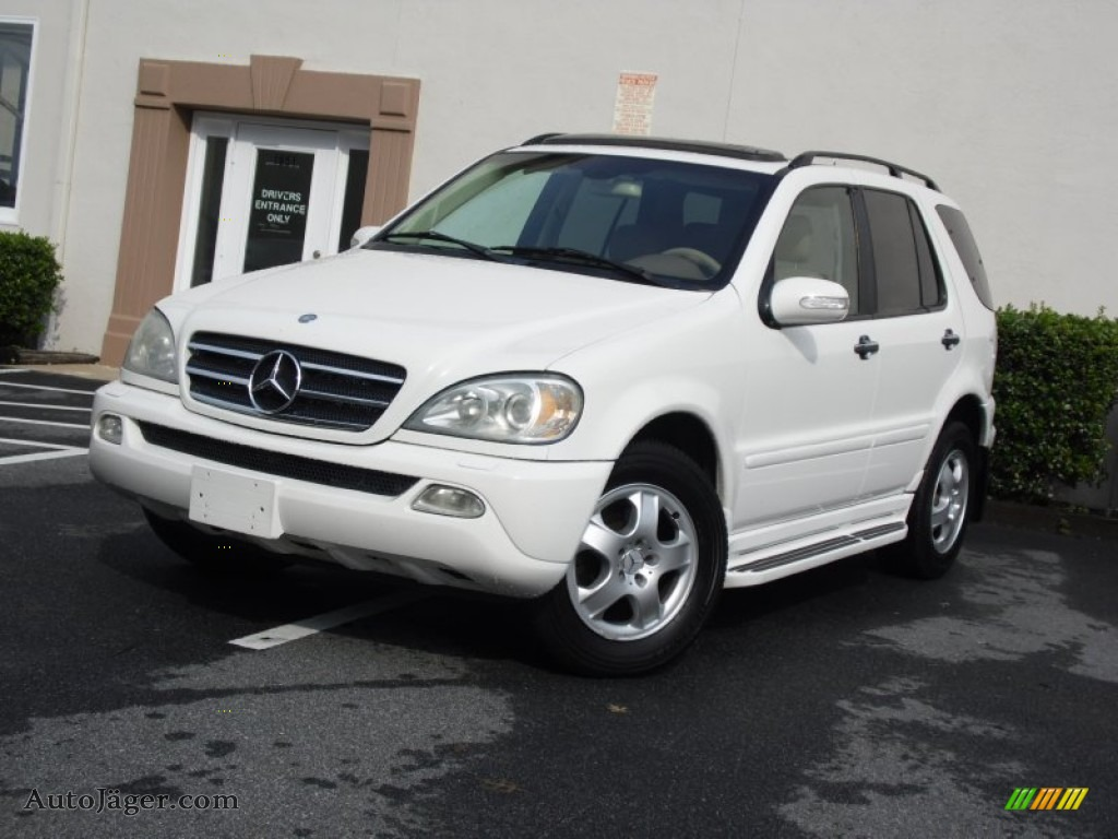 2002 mercedes benz ml 320 4matic in alabaster white for Mercedes benz ml 320 2002