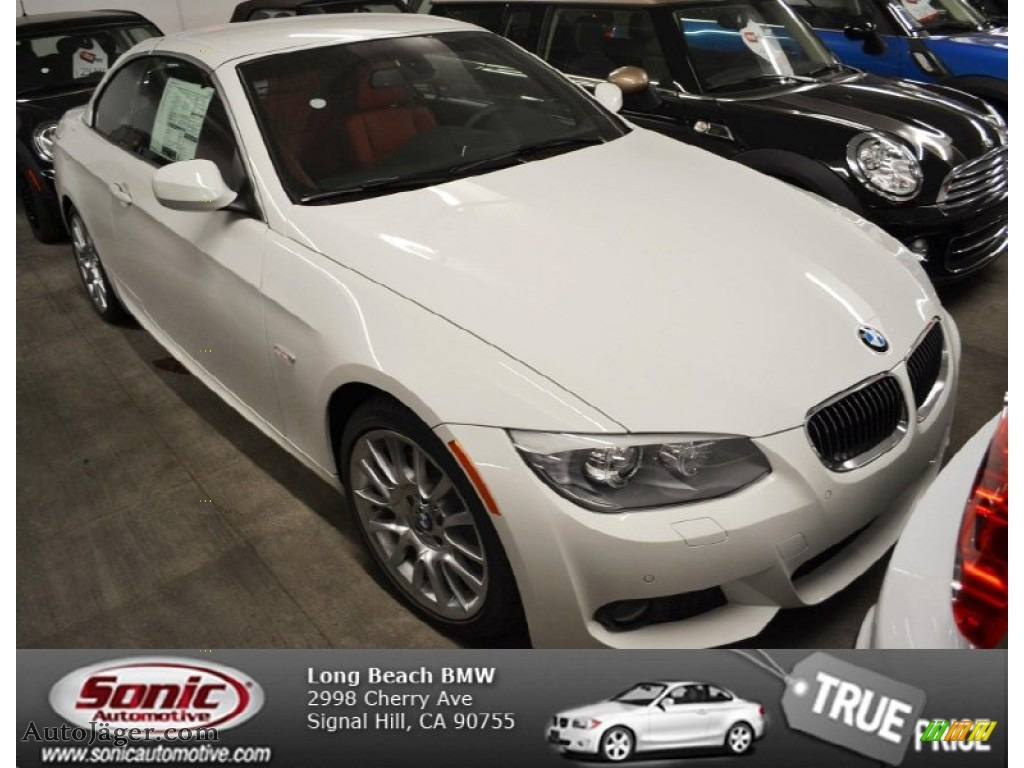 Alpine White / Coral Red/Black BMW 3 Series 328i Convertible