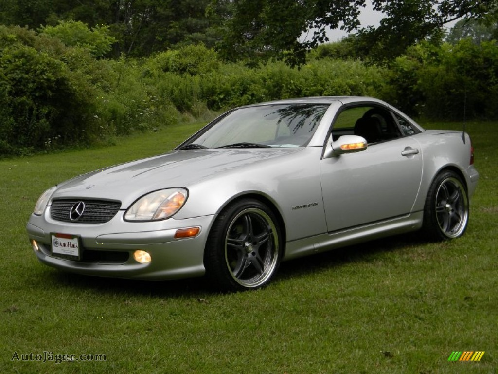 2001 mercedes benz slk 230 kompressor roadster in brilliant silver metallic 212737 auto. Black Bedroom Furniture Sets. Home Design Ideas