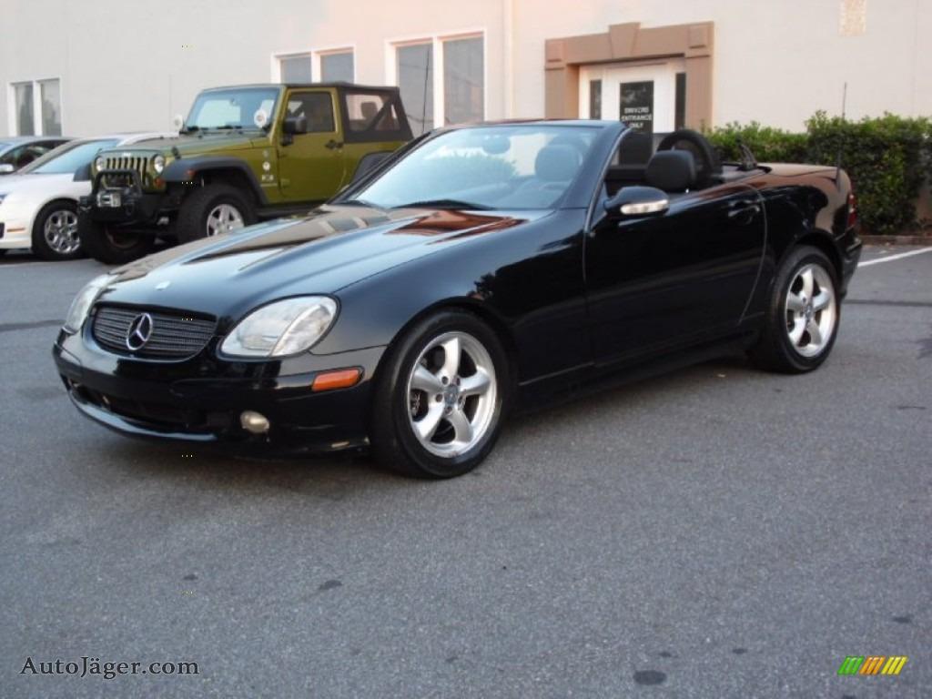 2002 mercedes benz slk 320 roadster in black 267385 for Mercedes benz slk roadster for sale