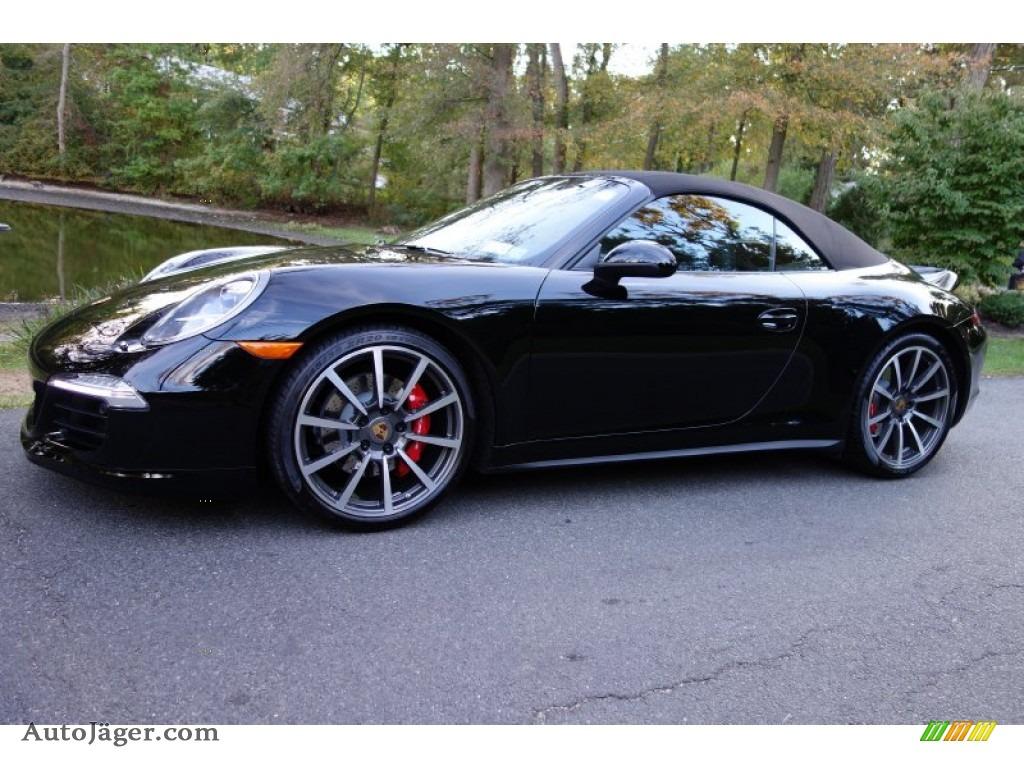 2014 911 carrera 4s cabriolet black black photo 1