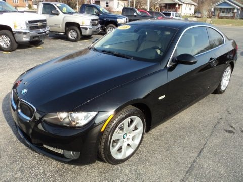 Jet Black 2008 BMW 3 Series 335xi Coupe
